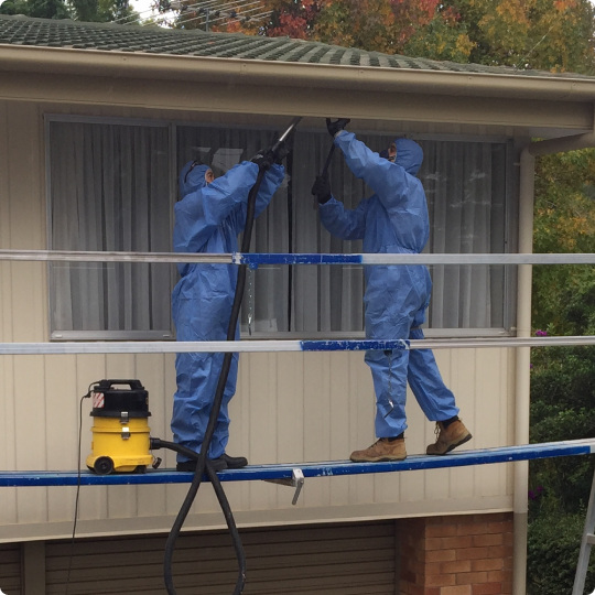 Residential Asbestos Removal on a home