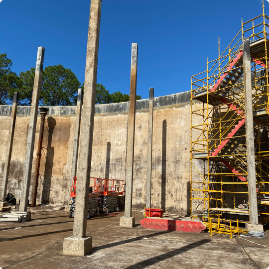 Asbestos Removal in a water reservoir