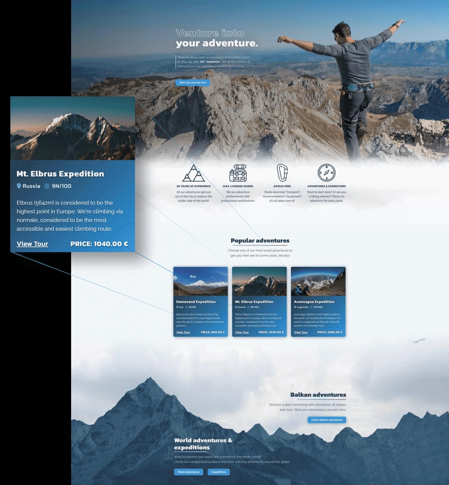 EST Adventure website main image
