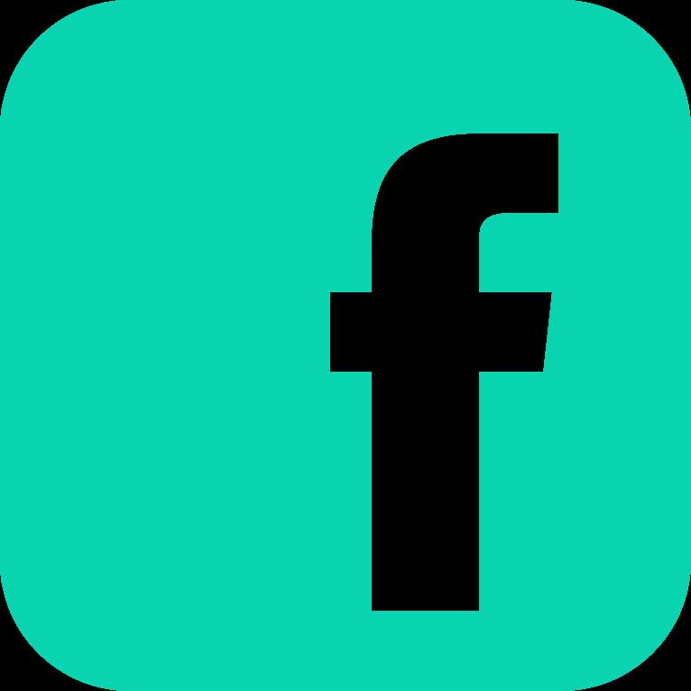 teal facebook icon