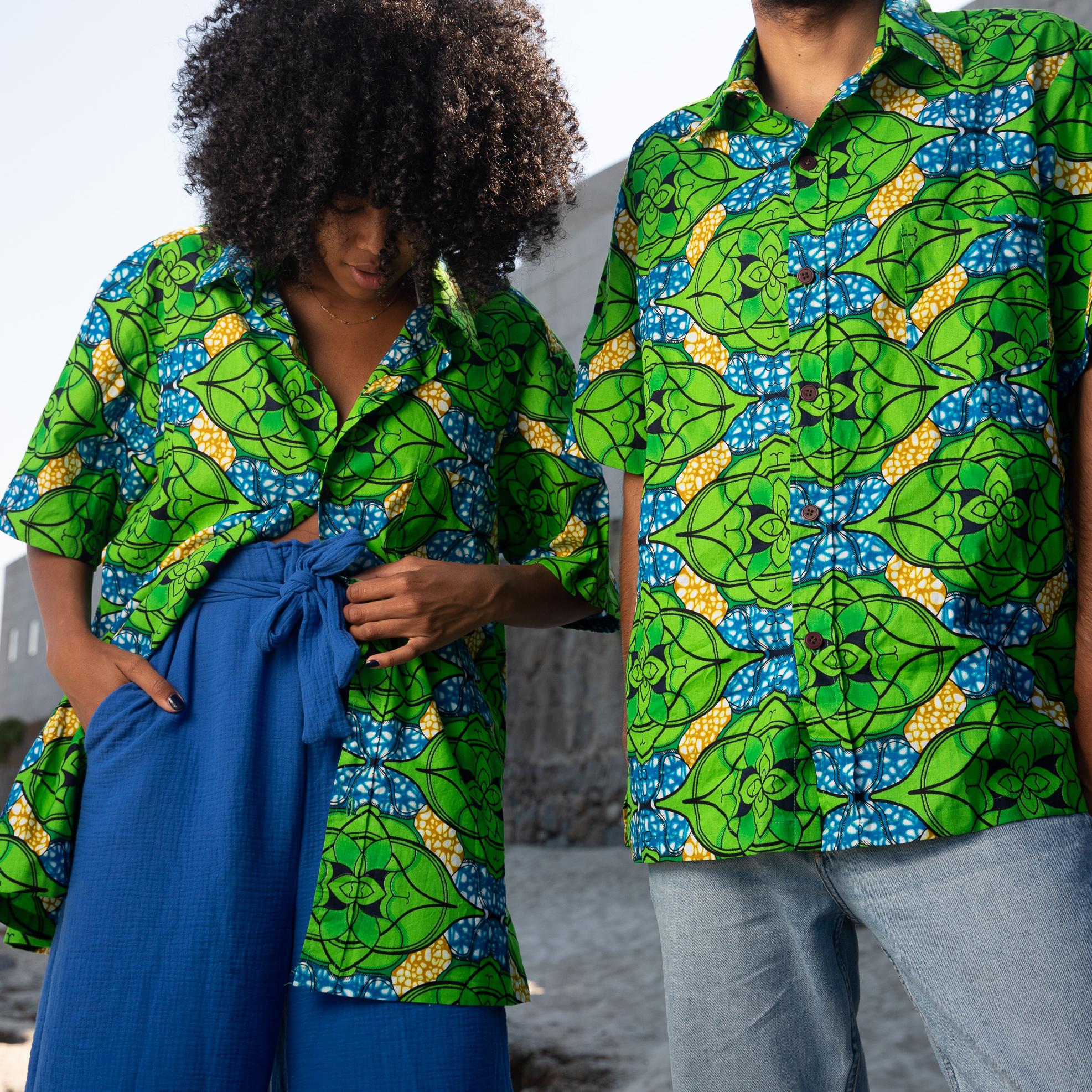 Camisa Samba verde unisex.