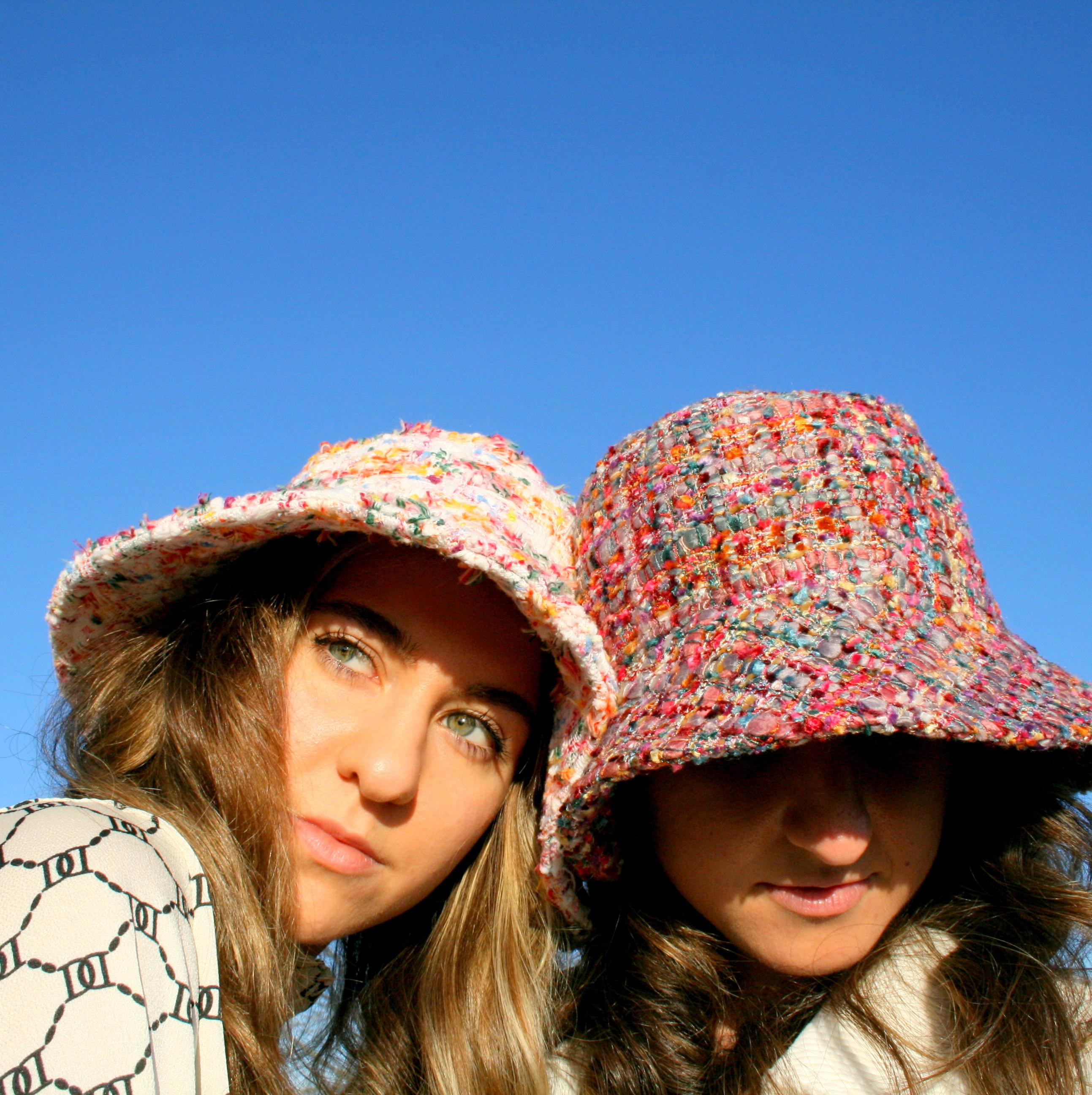 """Sombrero """"Tweed chanel elegante"""""""