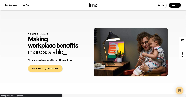 Hero homepage made in Webflow