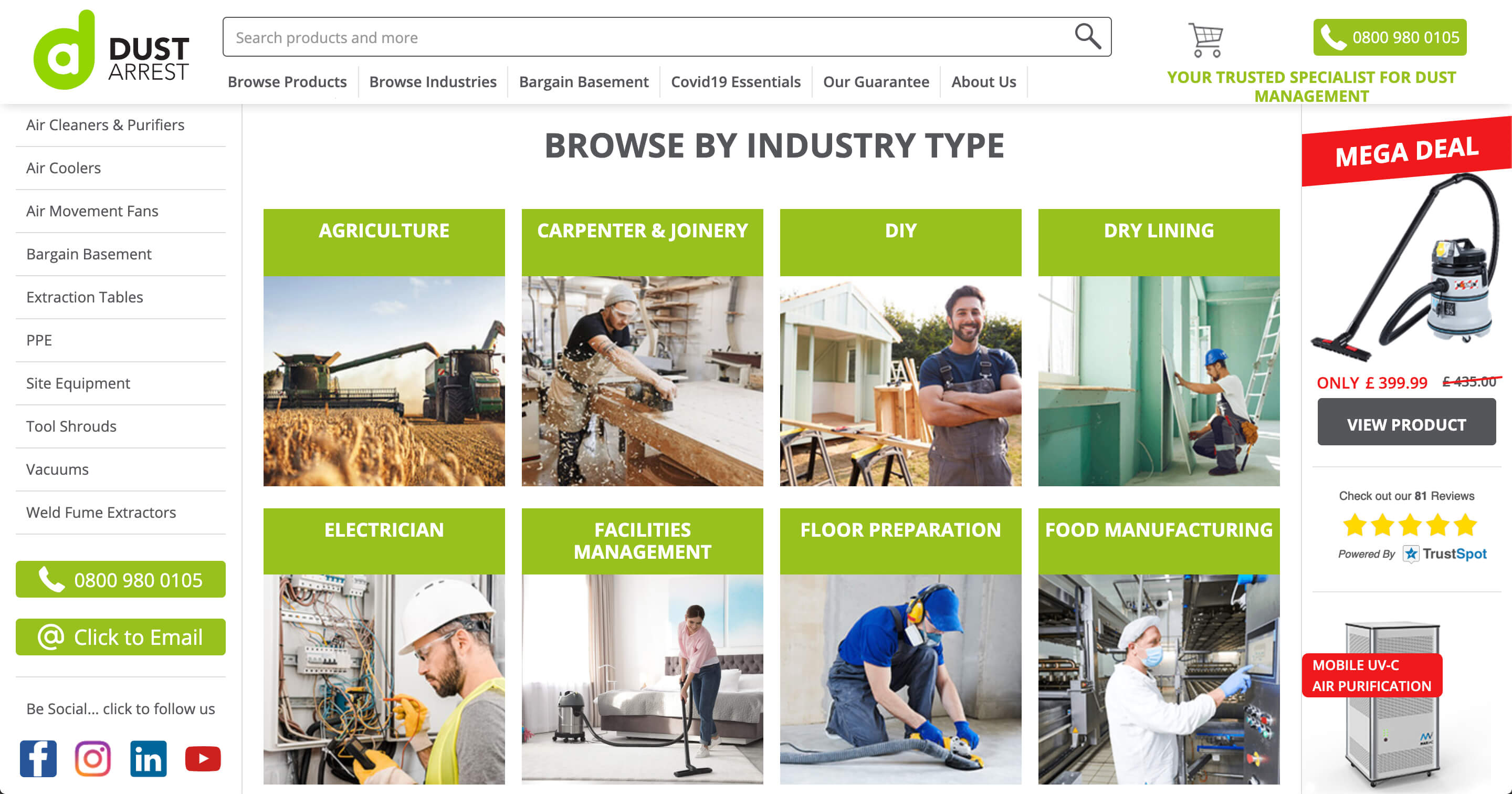 Browse by industry type