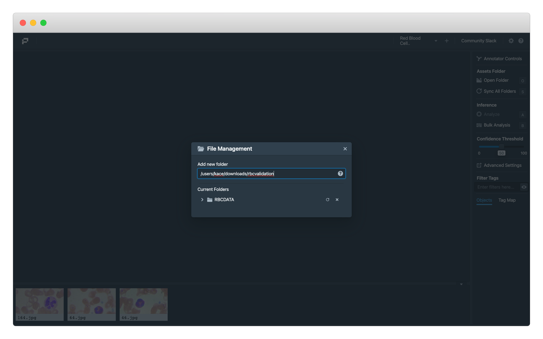 Registering Images Folder