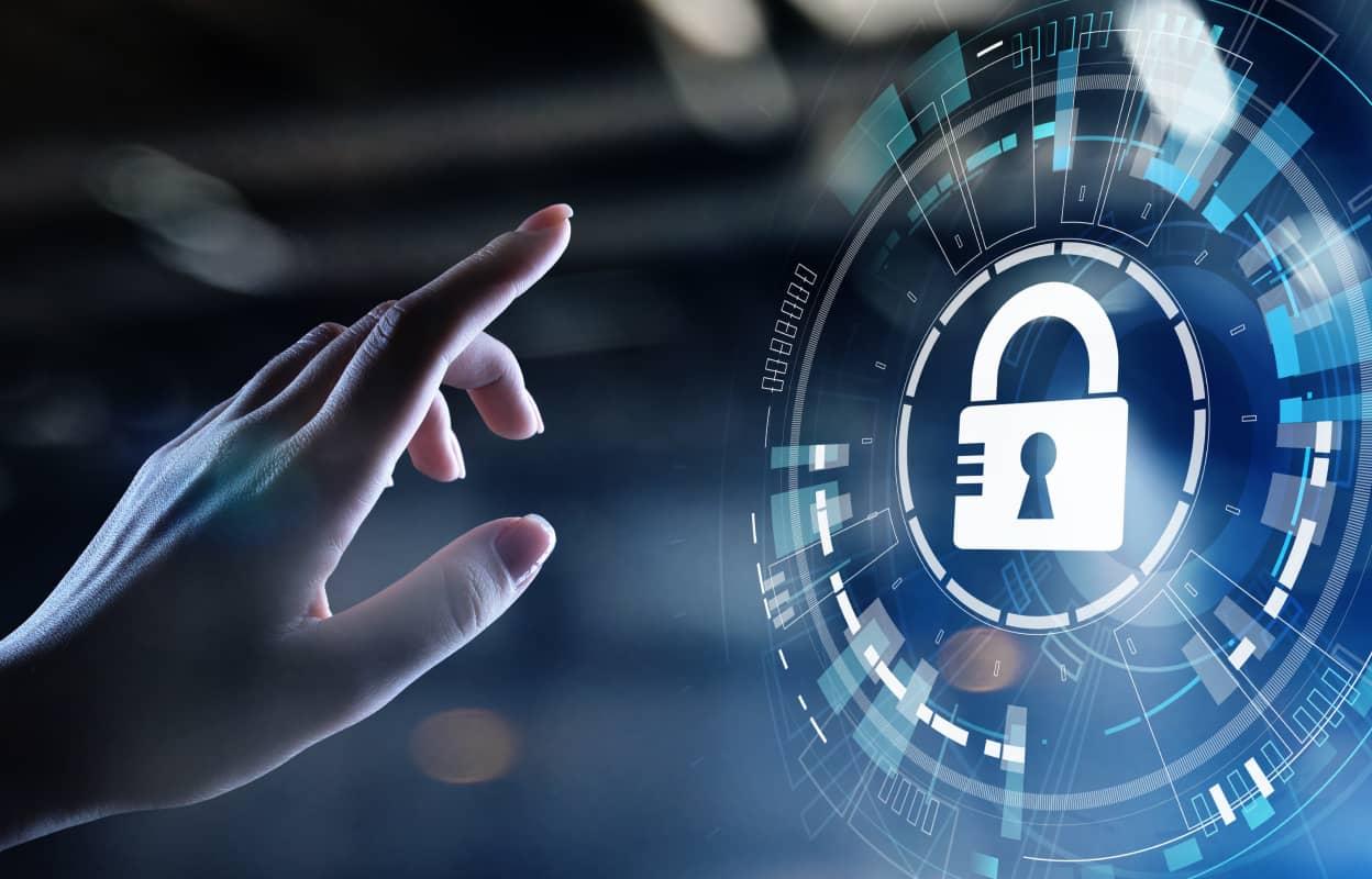Cybersecurity illustratieve afbeelding