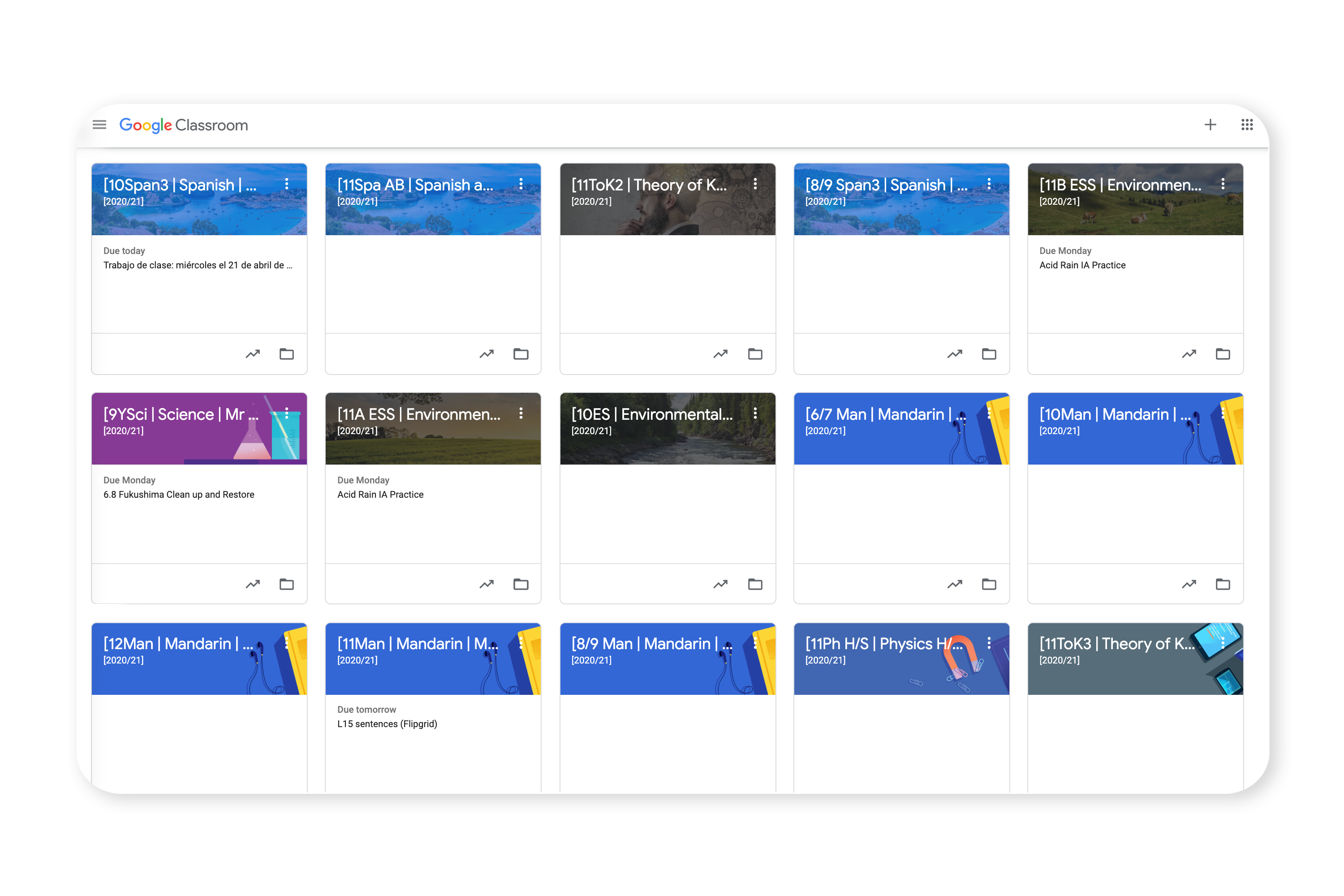 Google Workspace Calendar view