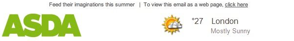 asda weather triggered email -