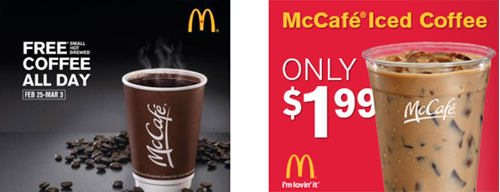 Weather targeted McDonald's creative