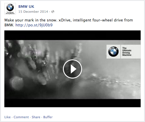 Automotive weather targeted ads on Facebook