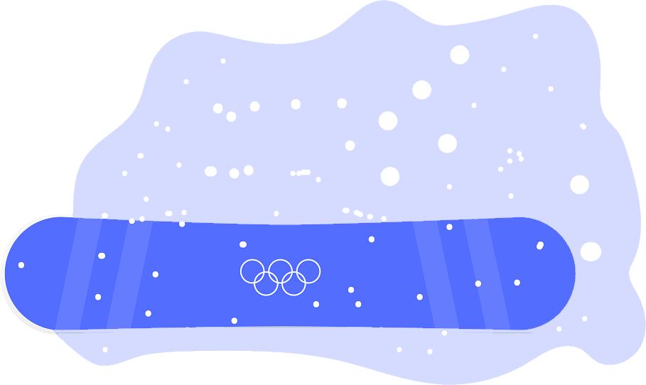 A Decathlon snowboard