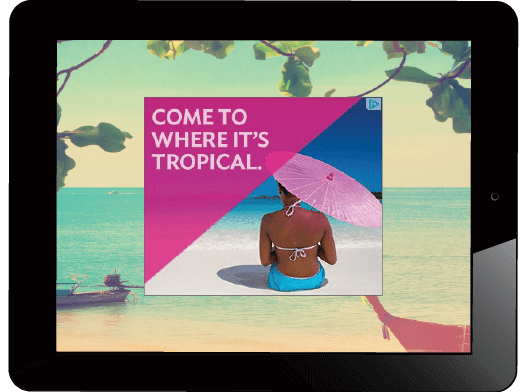 Dynamic weather targeted creative for travel co