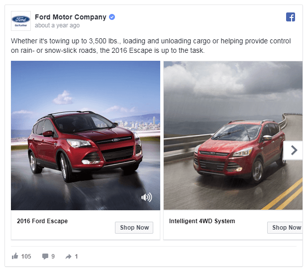 Weather triggered creative for Ford cars