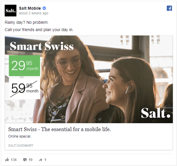 Weather targeted ads for Telecoms co
