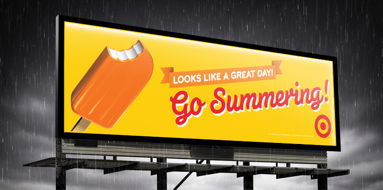 Contextually advertising- ice cream billboard