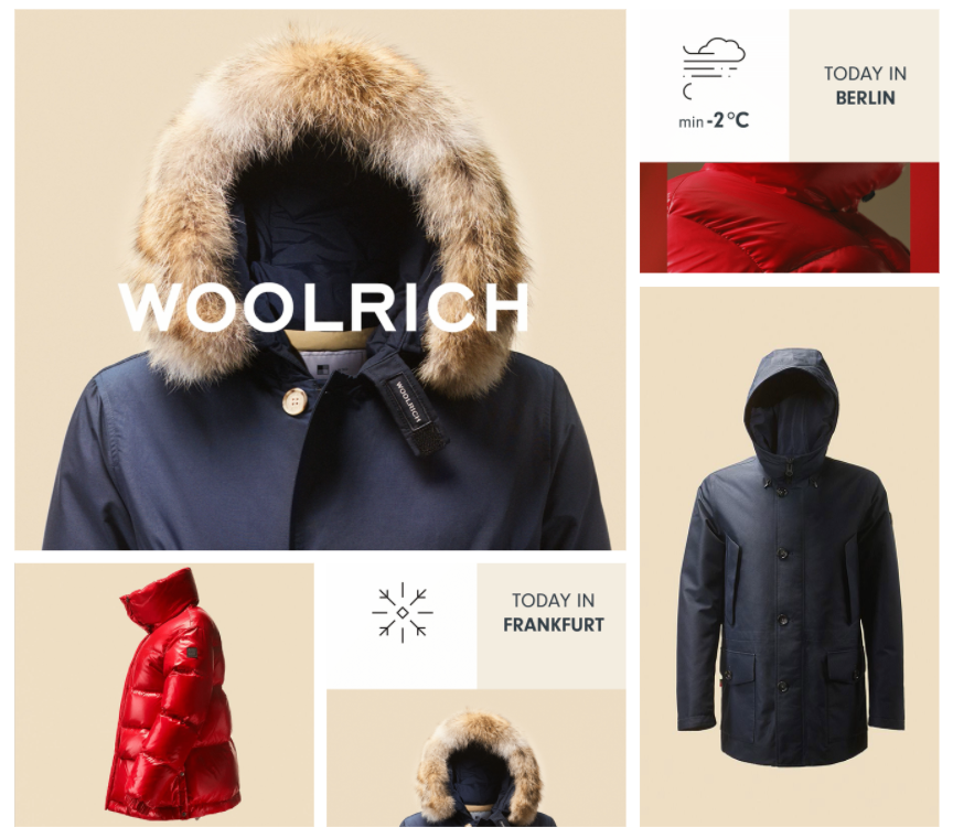 Woolrich weather targeted advertising campaign creative examples