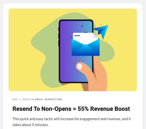 resend newsletters to non-opens