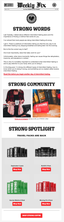 strong words newsletter