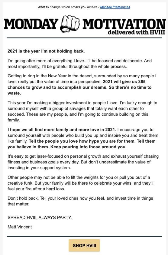 monday motivation newsletter