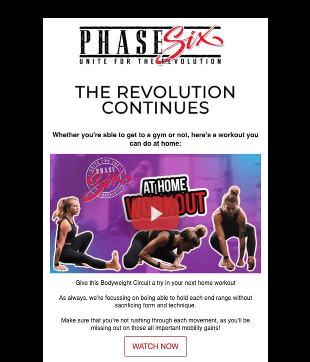 phase six newsletter