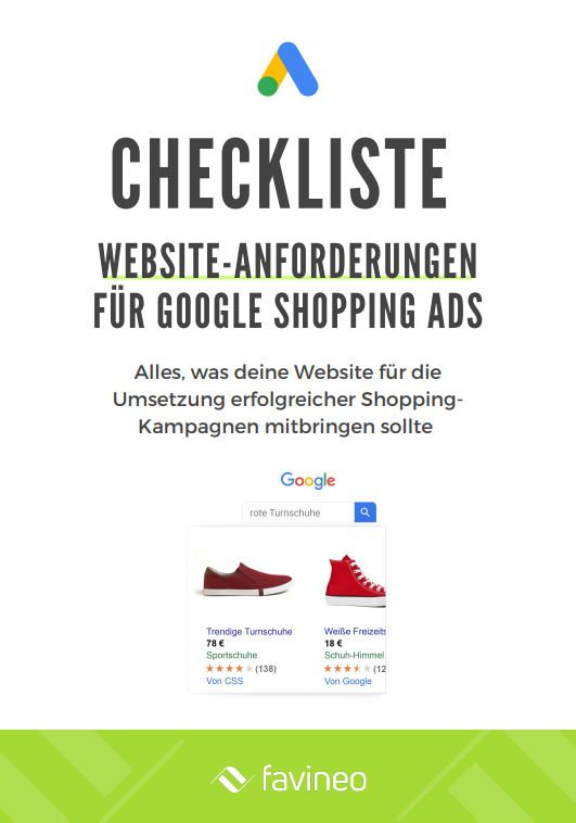 Google Shopping Ads - Website Anforderungen