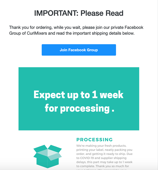 CurlMix-purchase-follow-up-email-example