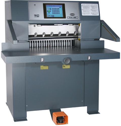 Titan 265 Paper Cutter can cut print jobs down to exact dimensions.