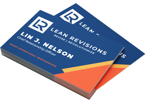 Business cards printed for Lean Revisions from Bellingham, WA