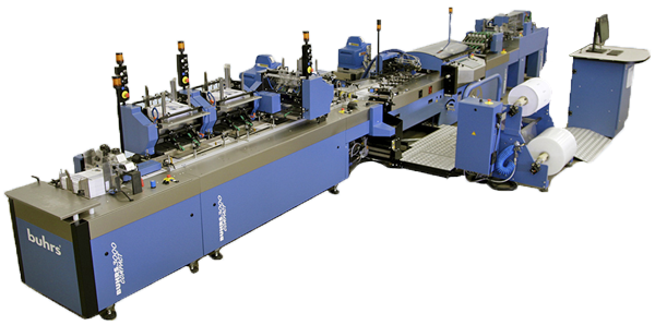 Buhrs 3000 Poly & Paper Wrapping System for poly bagging mail materials