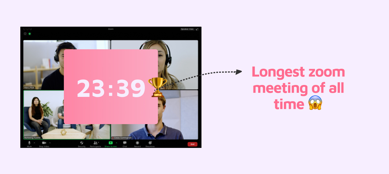 Longest zoom meeting in the world
