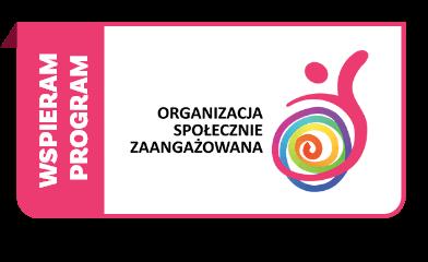 Wspieram program Organizacja Społecznie Zaangażowana