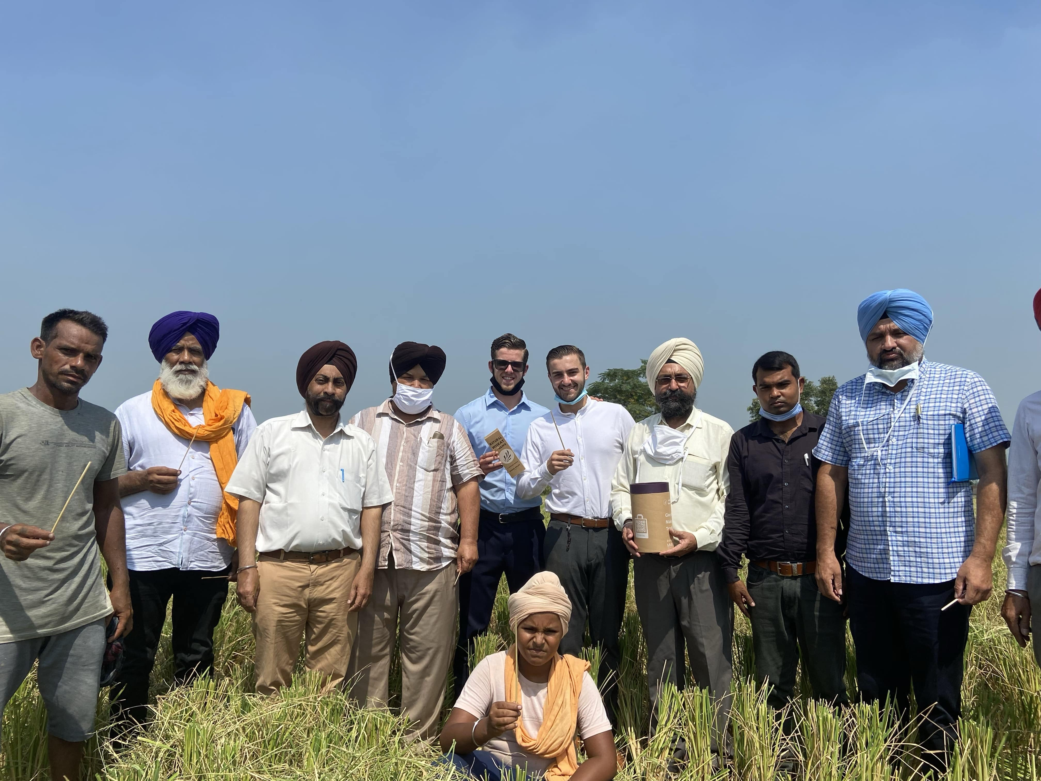 ECO Wheat - Collection Directors with Indian Farmers in Punjab Province