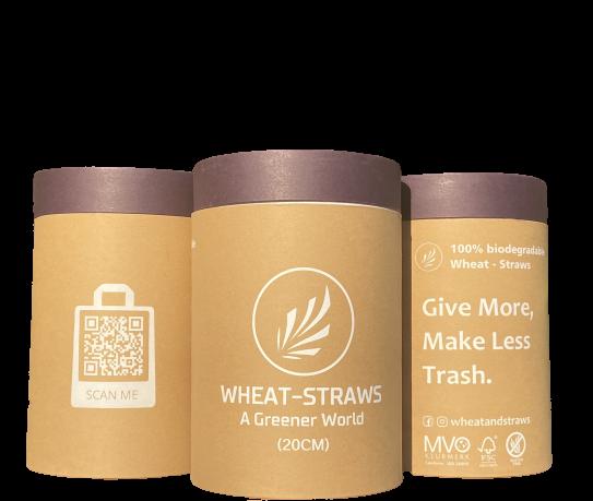 eco-friendly straws, plastic-free wheat straws, Maastricht, Limburg, Nederland