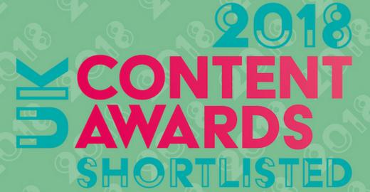 UK Content Awards Shortlisted 2018