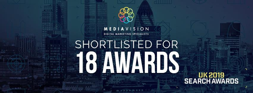 UK Search Awards Shortlisted for 18 awards 2019