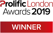 Prolific London Awards 2019 Winner