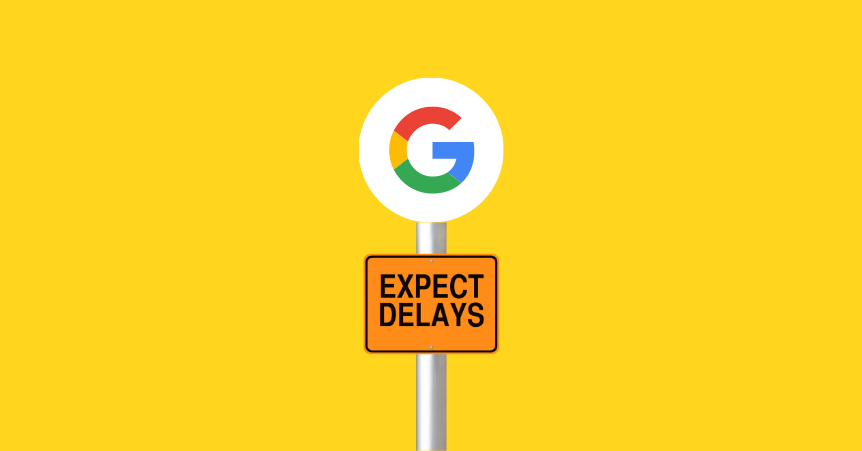Google page experience algorithm update Google logo on a sign
