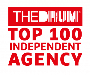 The Drum Top 100 INdependent Agency award logo