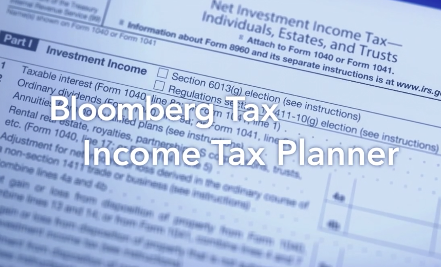 Bloomberg - Income Tax Planner