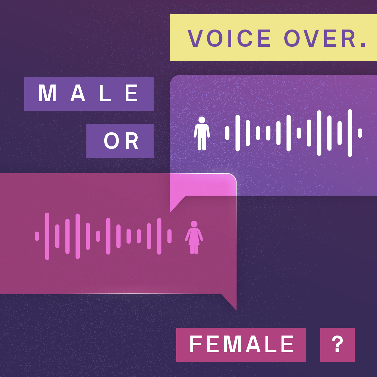 A diagram comparing the male and female voice