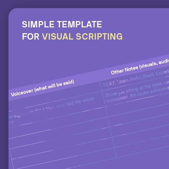 B2B Explainer Video Script Template