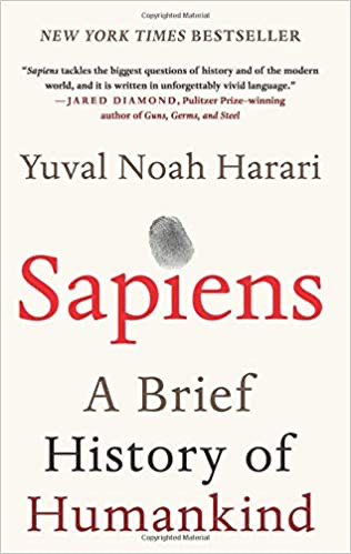 Cover of Yuval Noah Harari's Sapiens