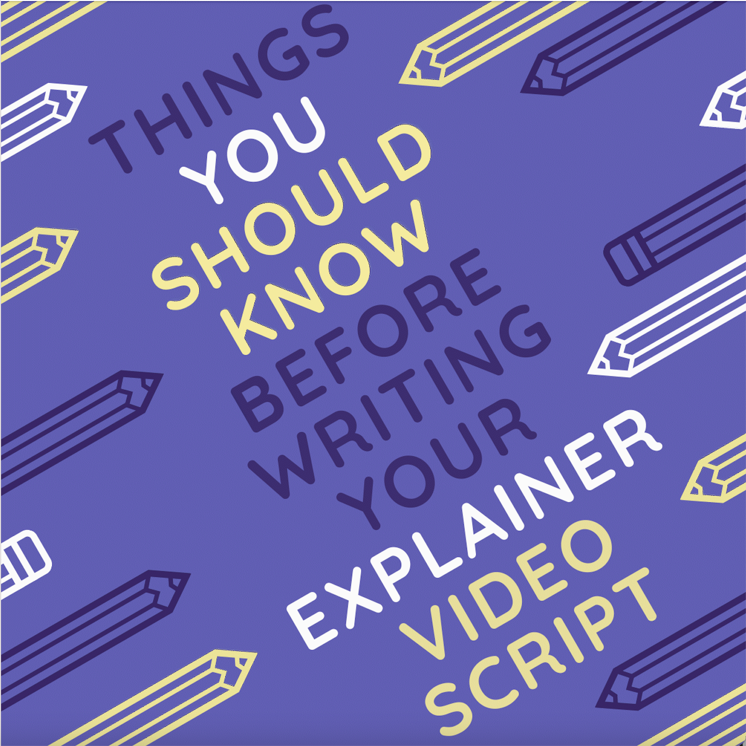 Graphic of things you should know before using an explainer video template