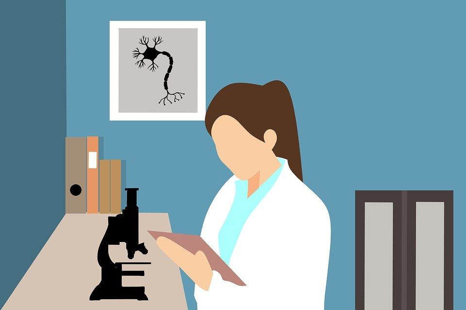 Doctor, Research, Chemical, Observes, Microscope