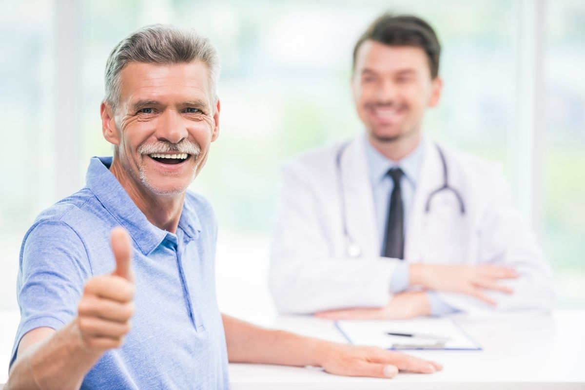 Older man thrilled to find relief from pain
