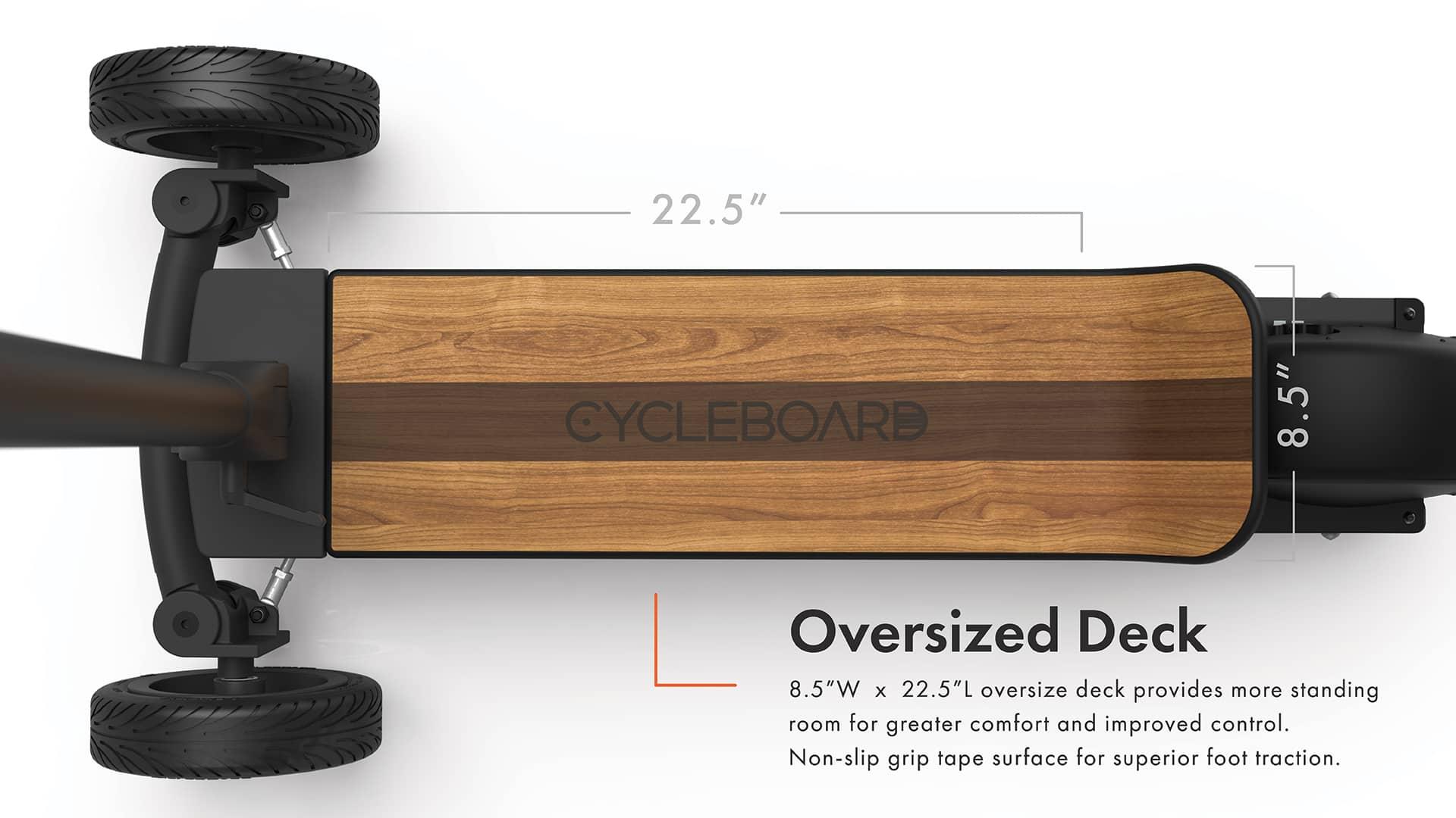 Oversized deck board