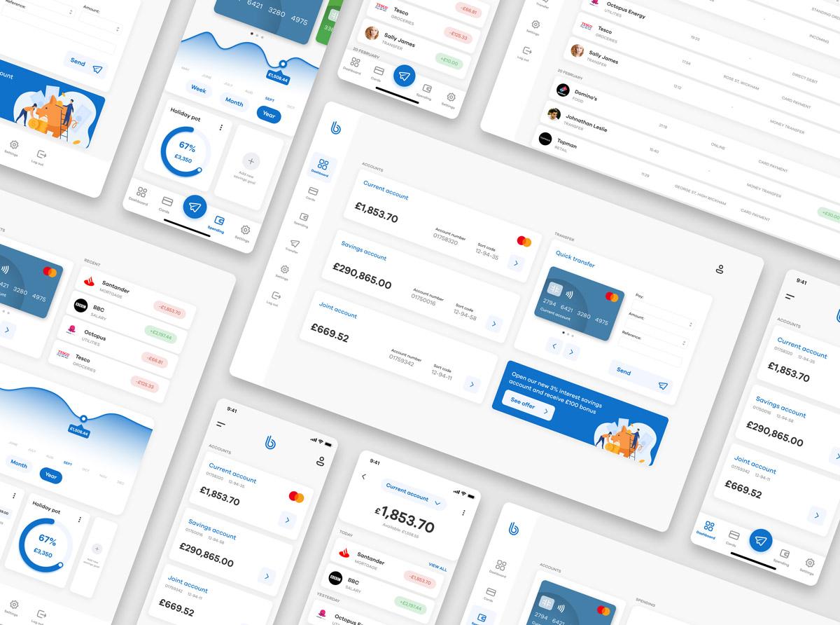 Visual design screens