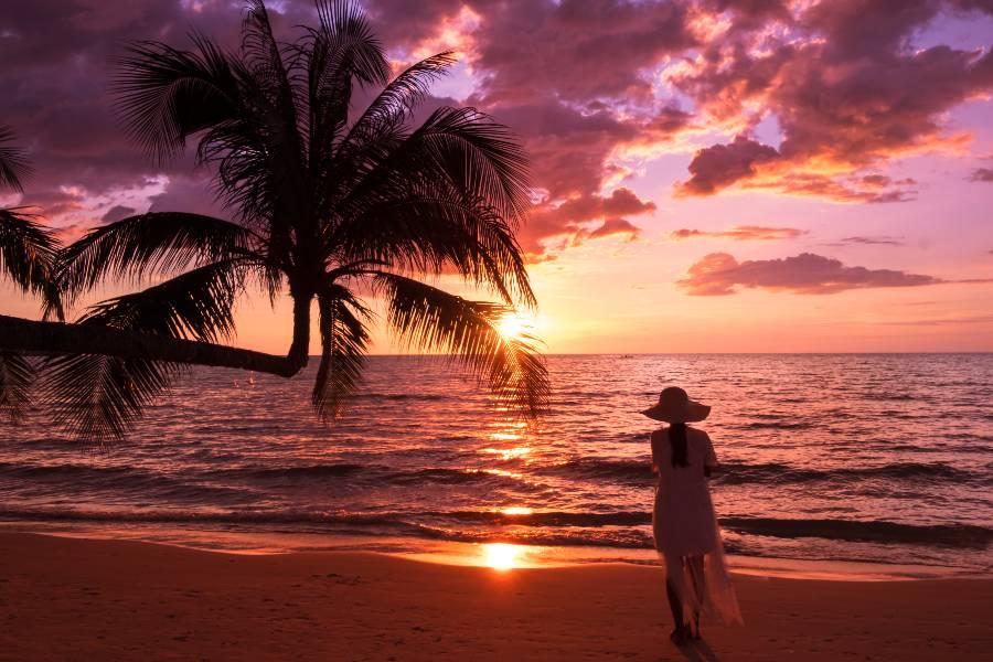 Uživanje v tropskem raju.