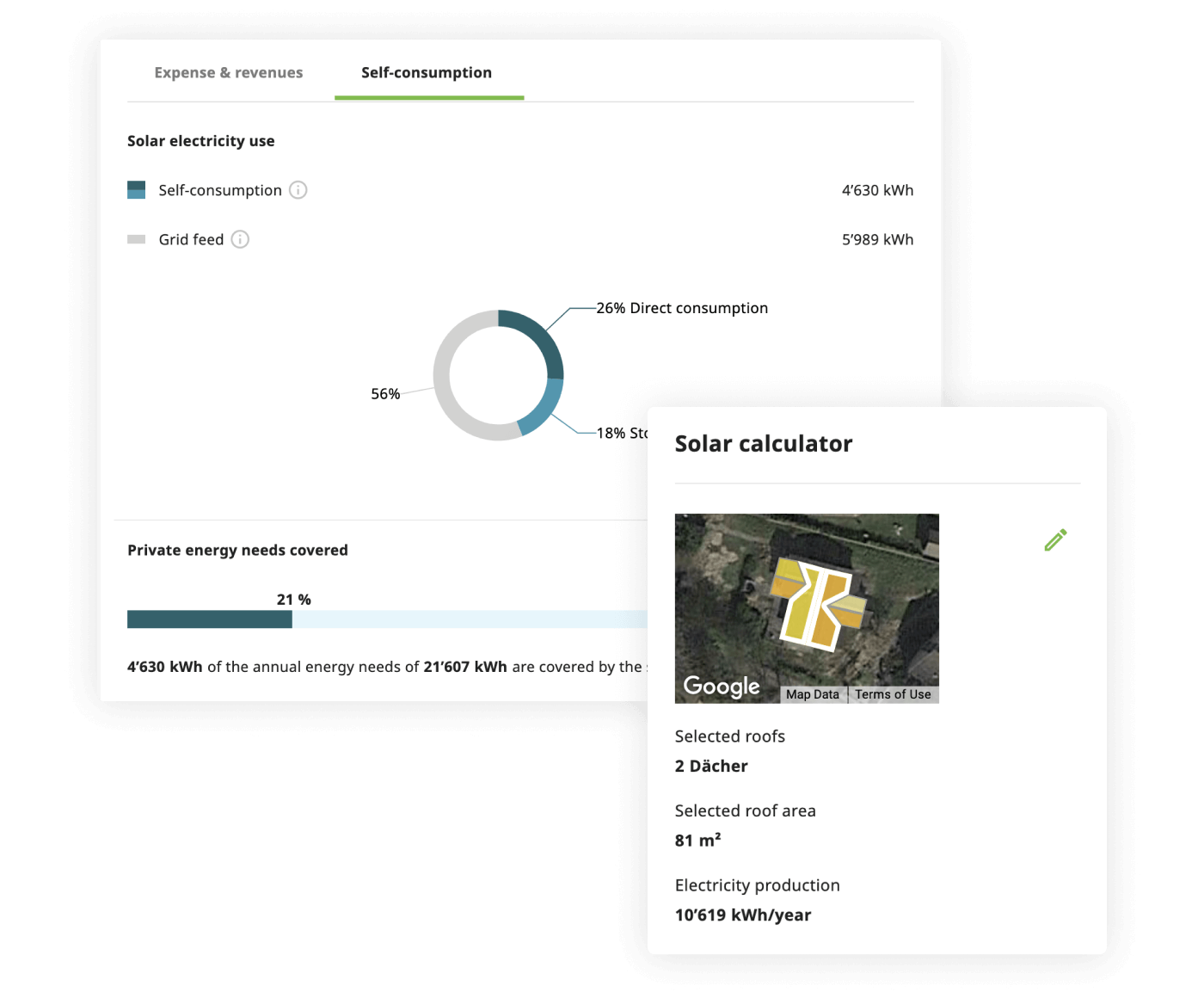 Solar calculator - compute energy needed