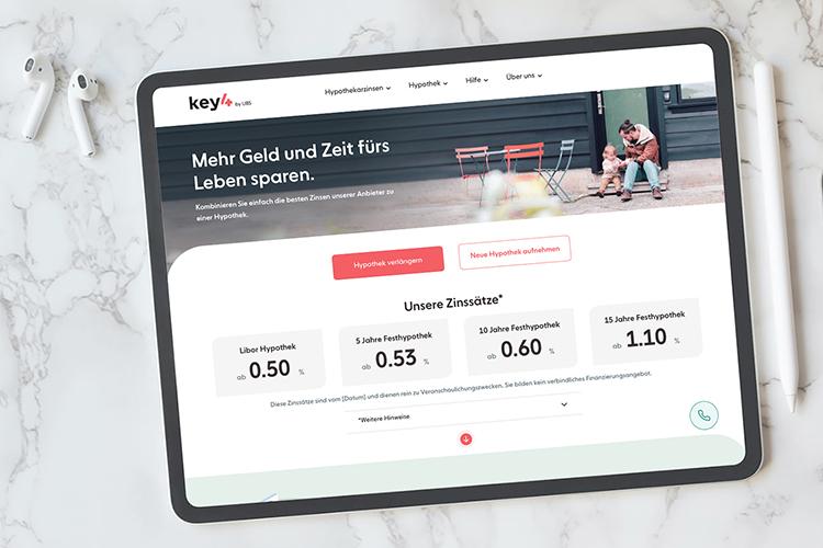Die neue Immobilienfinanzierungsplattform key4 by UBS
